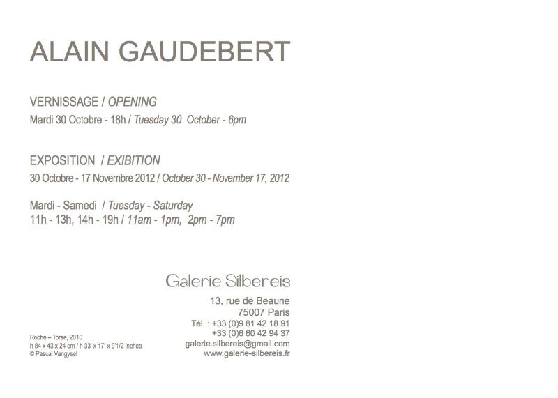 Invitation exposition 2012. Galerie Silbereis