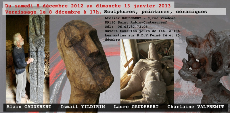 Invitation exposition Gaudebert 2012