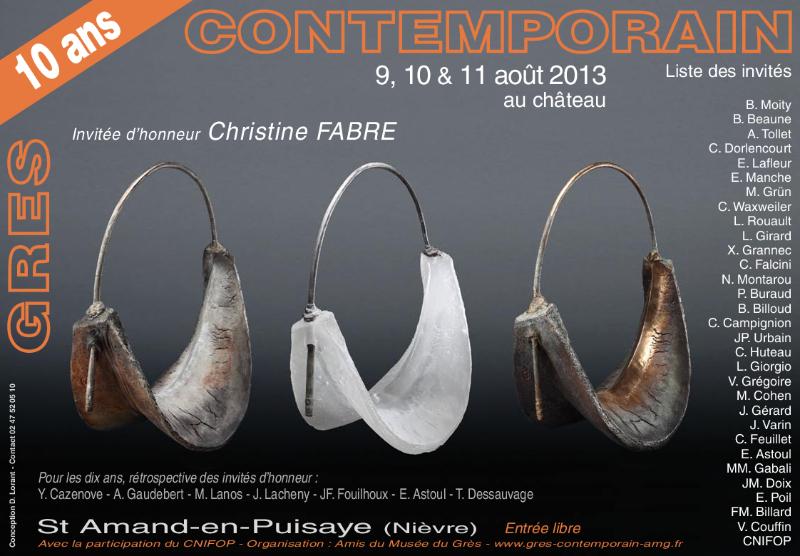 """Invitation exposition """"Grès contemporain"""", août 2013"""