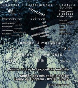 Performances, lectures et concerts, dans le cadre de l'exposition TerrEcrite.