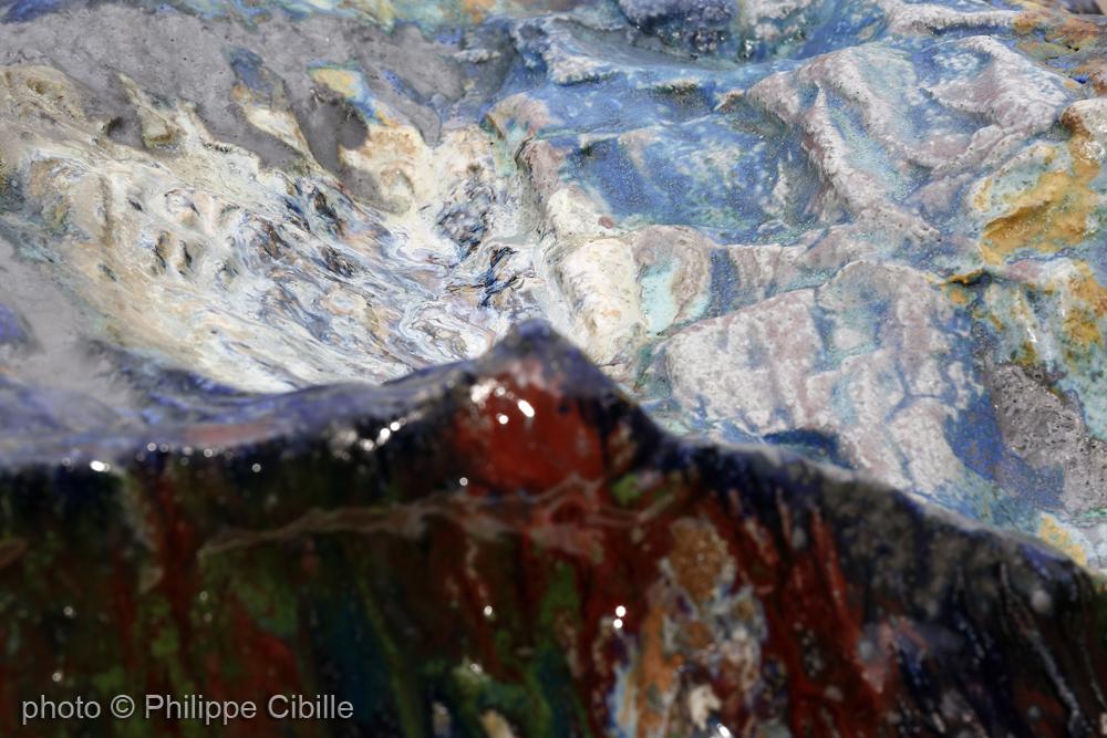 Volume paysage. Céramique d'Alain Gaudebert