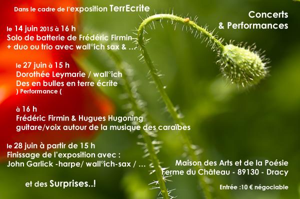 Performances dans le cadre de l'exposition TerreEcrite