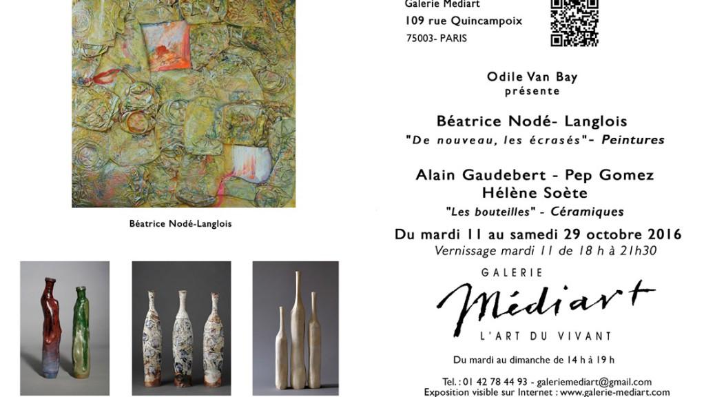 """Galerie Mediart - Exposition """"Les bouteilles"""""""