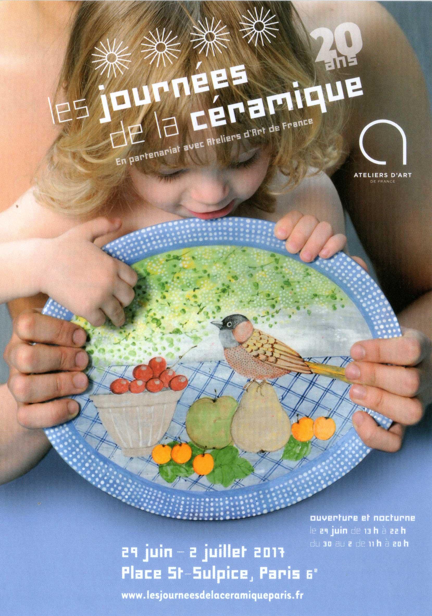 Les 20 ans des journées de la céramique, 29 juin – 2 juillet 2017 – Paris